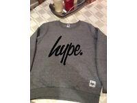 Hype sweatshirt boys age 9-10, grey in excellent condition.