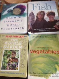 4 Quality cookery/ gardening books for sale.