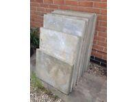 8 Salvaged Concrete Pavement Slabs 900x600x50, plus bonus