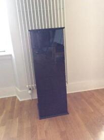 CD/DVD black gloss storage cabinet