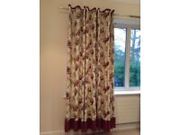 Laura Ashley lined eyelet curtains Gosford Paprika (matching blinds also available)