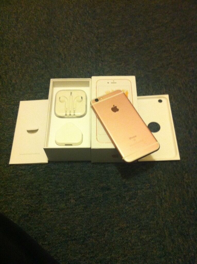iPhone 6s rose gold 32gb unlocked! OFFERSin Wolverhampton, West MidlandsGumtree - iPhone 6s rose gold 32gb selling due to upgrade the phone is in mint condition not even one mark. Its had a screen protecter and case on since Ive had it. Phone comes with original charger, original earphones, original box. Its unlocked as well....
