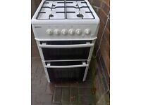 beko white Gas cooker 50cm.....Mint free delivery