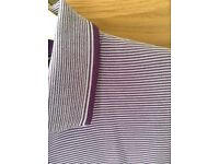 Men's Clothing Purple Stripe Polo Style T-Shirt by Jeff Banks Size Medium 39-42 inch Chest NEW