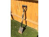 Sturdy garden shovel