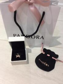 Pandora genuine rose gold bow charm