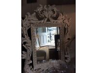 Roccoco style shabby chic mirror