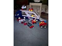 little trike lorry and cars