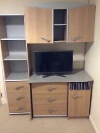 Bedroom furniture, drawers, bookcase, wall unit, desk