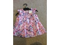 12-18 months girls dress brand new with label butterfly pattern