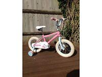 "GIrls 14"" Fairies Bike with stabilisers"