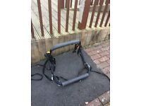 Black bike rack holds 2 bikes Wick BS30