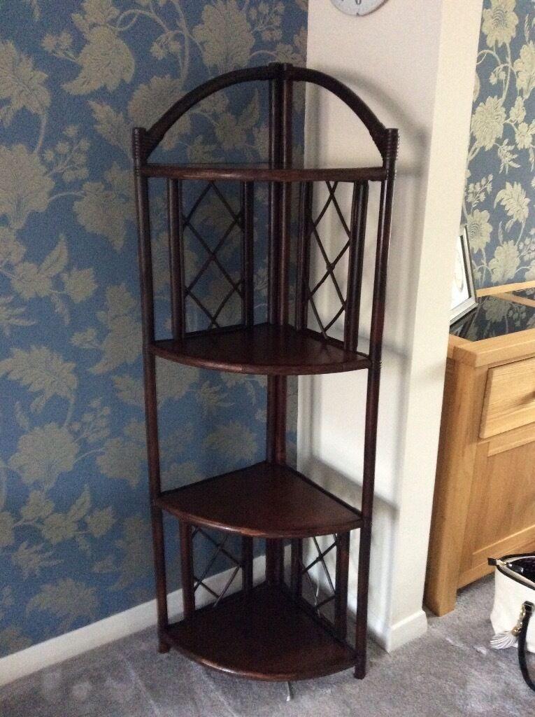 "Cane 4 shelved corner unitin AberdeenshireGumtree - Cane 4 shelved corner unit. Ideal for living room or conservatory Height 5(152cm) Depth 13"" (38cm) Width 1 10"" (56cm)"