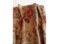 Fabulous Ballad Bouquet Floral Fabric handmade curtains