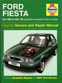 HAYNES FORD FIESTA SERVICE & REPAIR MANUAL 1995 - 2001 PETROL & DIESEL