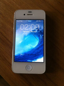 APPLE IPHONE 4S - 16GB -- SLIGHT CRACK SCREEN GLASS BUT STILL WORKS PERFECT --- EE NETWORK
