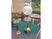 Victorian oil lamps