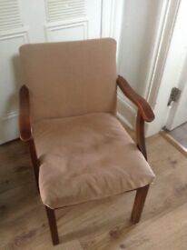 Vintage wooden frame chair 1930s / 1940s