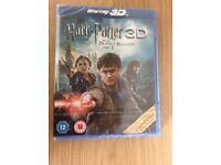 Harry Potter and the deathly hollows part 2 blue-Ray (unused)