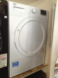 Beko white 8kg condesnser tumble dryer. £230 RRP £329. New/graded 12 month Gtee