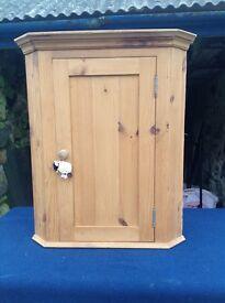 Solid pine corner cupboard