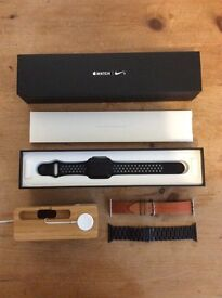 Apple Watch Nike+ 42mm Space Grey with accessories - £375