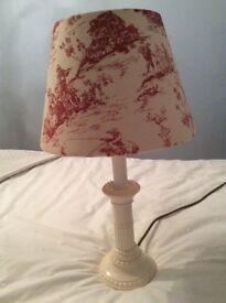 Creamware candlestick lamps