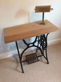 Singer Sewing Table / Hall Table / Console Table with solid Oak top