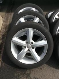 Audi Q7 S Line alloy wheels and tyres.