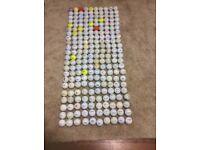 Mixed bag of golf balls