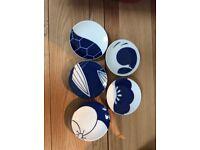 New Japanese Pottery small plates. Handmade in original box.