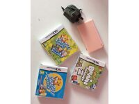 NINTENDO DS LITE AND INCLUDED X3 GAMES