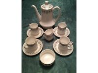 Coffee pot and cups