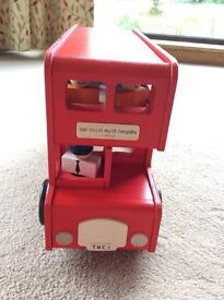 Brand new Little White Company wooden London bus