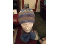 Handmade hat and scarf