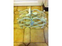 Wine rack x 2 in cream cast iron