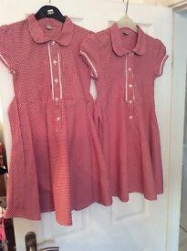 Age 8 red school dresses x 2