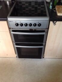 Beko ceramic hob and double oven with grill