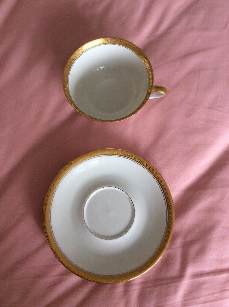 Limoges - porcelain cup and saucer