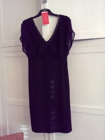Monsoon black dress size 8