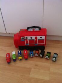 Chuggington Carry Case/Storage and Various Trains