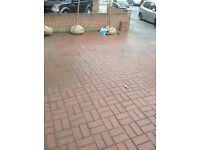 Free to collect block paving bricks