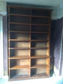 Large Freestanding Real Wood Bookcase