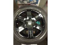 Genuine VW wheels and tyres set of 4