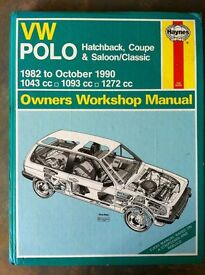 Haynes Workshop Manual For VW Polo Classic 82-90