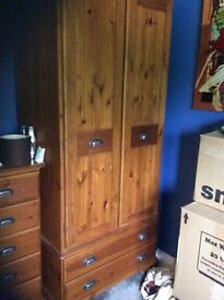 Pine Wardrobe with drawres