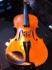 Beautiful 1890's German Violin for sale in Durham. Case, bow, shoulder rest and insurance val. incl.