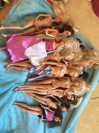 Barbie dolls etc