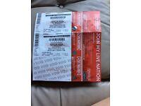 2 x depeche mode tickets