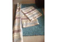 Stripe eyelet curtains fully linned